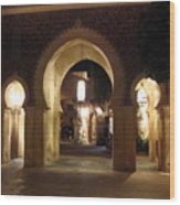 Archways At Night Wood Print