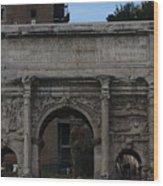 Arco Di Settimio Severo Wood Print