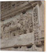 Arco Di Tito Relief Wood Print