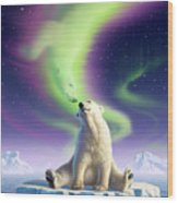 Arctic Kiss Wood Print
