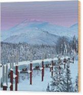 Arctic Light Wood Print