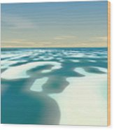 Arctic Spring Thaw Wood Print