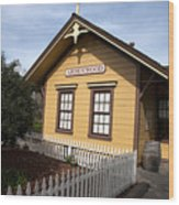 Ardenwood Historic Farm Railroad Station Wood Print