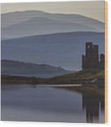 Ardvreck Castle And Loch Assynt Wood Print