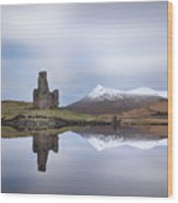 Ardvreck Castle Reflection Wood Print