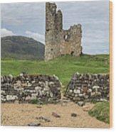 Ardvrek Castle Panorama 0842 Wood Print
