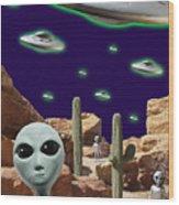 Area 51 Wood Print