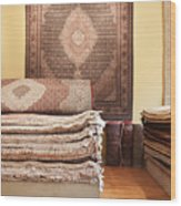 Area Rugs In A Store Wood Print by Jetta Productions, Inc