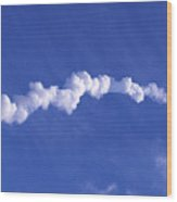 Area1x Rocket Exhaust Trail Wood Print