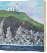 Arecibo Lighthouse Wood Print