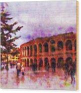 Arena Di Verona Wood Print