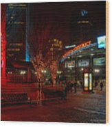 D66l-4 Arena District Photo Wood Print