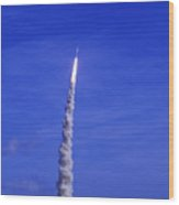 Ares-1 Rocket Launch Wood Print