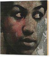 Aretha Franklin - Tribute Wood Print