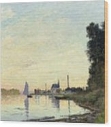 Argenteuil, Late Afternoon Wood Print