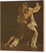 Argentine Tango Dancers Wood Print by Martin Howard