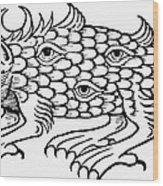 Argus Sea Monster, 1537 Wood Print