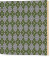 Argyle Diamond With Crisscross Lines In Paris Gray T09-p0126 Wood Print