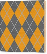 Argyle Diamond With Crisscross Lines In Pewter Gray T03-p0126 Wood Print