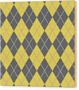 Argyle Diamond With Crisscross Lines In Pewter Gray T05-p0126 Wood Print
