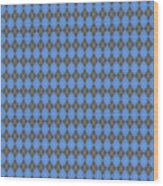 Argyle Diamond With Crisscross Lines In Pewter Gray T18-p0126 Wood Print