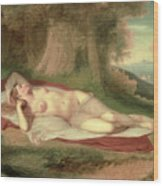 Ariadne Asleep On The Island Of Naxos Wood Print by John Vanderlyn