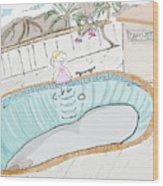 Arial Skates Pools Wood Print