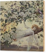 Ariel Wood Print by John Anster Fitzgerald