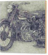 Ariel Square Four 1 - 1931 - Vintage Motorcycle Poster - Automotive Art Wood Print