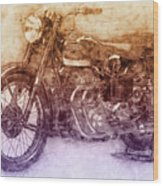 Ariel Square Four 2 - 1931 - Vintage Motorcycle Poster - Automotive Art Wood Print
