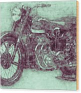 Ariel Square Four 3 - 1931 - Vintage Motorcycle Poster - Automotive Art Wood Print