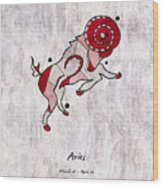 Aries Artwork Wood Print