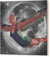 Aries Rising Wood Print