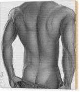 Arik's Back Wood Print by Brent  Marr