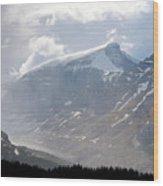 Arising Storm Over Glacier Wood Print