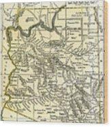 Arizona Territory Antique Map 1891 Wood Print