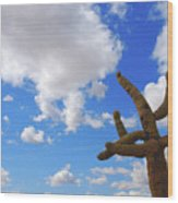 Arizona Blue Sky Wood Print