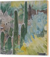 Arizona Cacti Wood Print