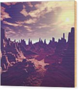 Arizona Canyon Sunshine Wood Print