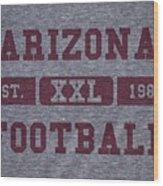 Arizona Cardinals Retro Shirt Wood Print