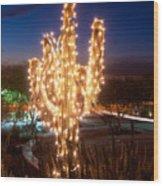 Arizona Christmas Tree Wood Print