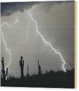 Arizona Desert Storm Wood Print