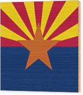 Arizona Flag Art Wood Print