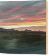 Arizona Highway Wood Print