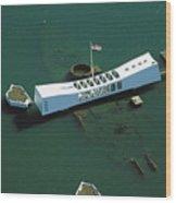 Arizona Memorial Aerial Wood Print