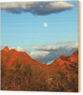 Arizona Moon Wood Print