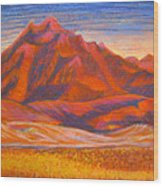 Arizona Mountains At Sunset Wood Print