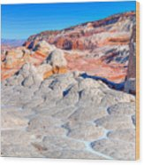 Arizona- Paria Plateau- White Pocket Wood Print