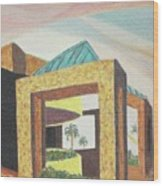 Arizona Park Building Wood Print