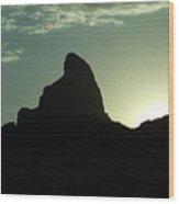 Arizona Silhouette Wood Print